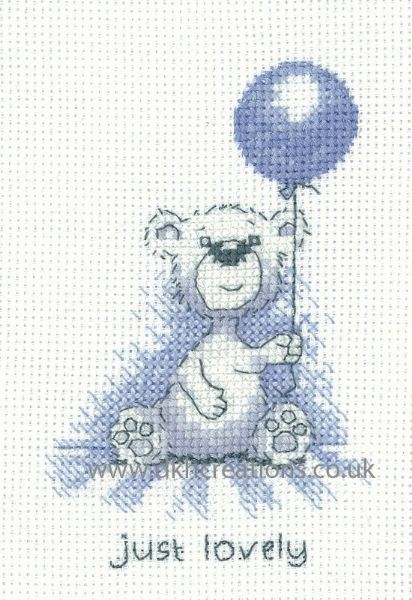 Peter Underhill Justin Just Lovely Greeting Card Cross Stitch Kit